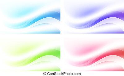 résumé, ensemble, fond, multicolore