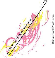 résumé, flûte, illustration
