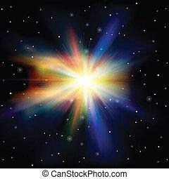 résumé, fond, étoiles, espace