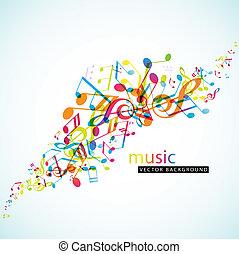 résumé, fond, coloré, tunes.