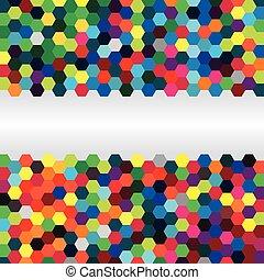 résumé, fond, hexagones