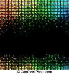 résumé, fond, lumières, disco, multicolore