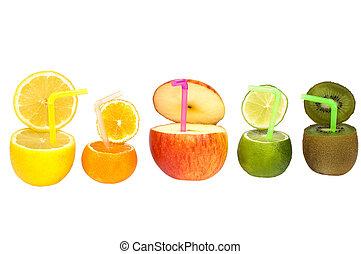 résumé, fruit, drink., coloré