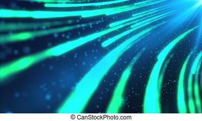 résumé, futuriste, couler, rendre, numérique, stream., données, engendré, informatique, 3d, fond