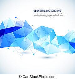 résumé, géométrique, fond, 3d