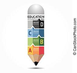 résumé, gabarit, numéroté, utilisé, lignes, infographics, conception, /, vecteur, site web, coupure, crayon, bannières, infographic, horizontal, graphique, minimal, style, être, disposition, ou, boîte