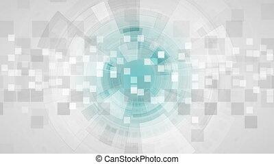 résumé, gris, animation, vidéo, technologie, futuriste