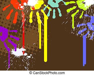 résumé, handprints