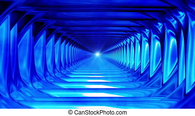 résumé, high-tech, émission, bleu, interminable, tunnel, hd