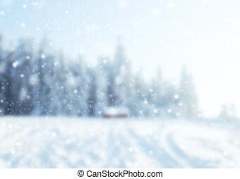 résumé, hiver, fond, barbouillage