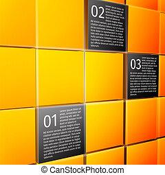 résumé, infographic, éléments conception, cubes