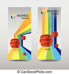 résumé, infographic, bannières, vertical