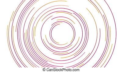 résumé, lignes, clair, animation, vidéo, futuriste, circulaire