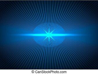 résumé, lignes, perspective, bleu, concept, futuriste, connexion, éclairage, sombre, technologie, arrière-plan., avenir