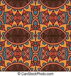 résumé, modèle géométrique, décoratif, ethnique, tribal, seamless, vendange