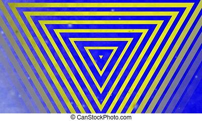 résumé, multicolore, triangle