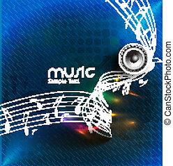 résumé, musique note, conception