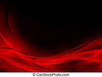 résumé, noir, lumineux, fond, rouges