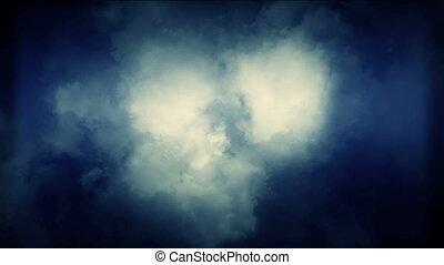 résumé, nuages, fumée