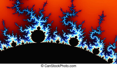 résumé, numérique, engendré, fractal