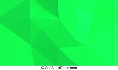 résumé, pattern., polygonal, arrière-plan vert, 3d