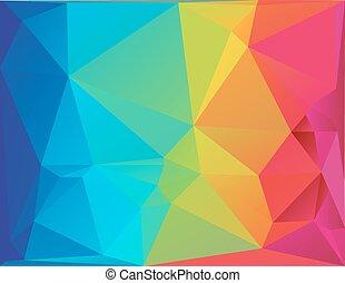 résumé, polygone, fond, spectre