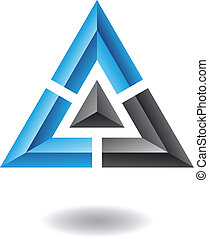 résumé, pyramide, triangle, icône