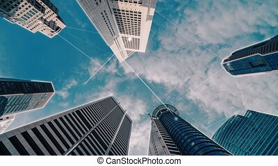 résumé, réseau, intelligent, numérique, ville, graphique, globalisation, connexion, projection