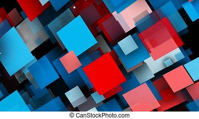 résumé, rectangles, fond, coloré