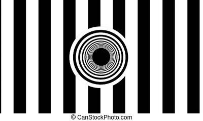 résumé, seamless, rendre, noir, stripes., blanc, boucle, 3d