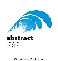 résumé, spectre, vecteur, feuilles, logo, courbé