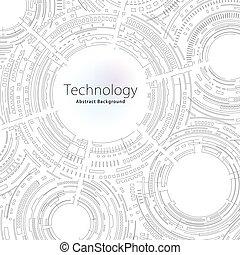 résumé, technologie, fond
