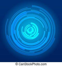 résumé, utilisateur, fond, technologie, futuriste, interface