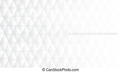 résumé, vecteur, fond, conceptuel, technologic, blanc, triangles, 3d