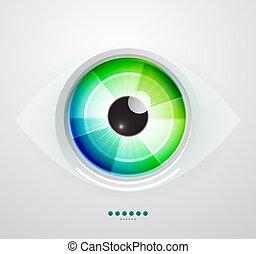 résumé, vecteur, illustration, techno, eye.