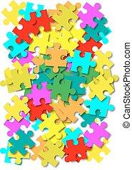 résumé, vecteur, puzzle, fond