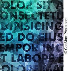 résumé, vecteur, typographie, fond