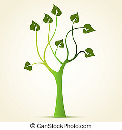 résumé vert, arbre