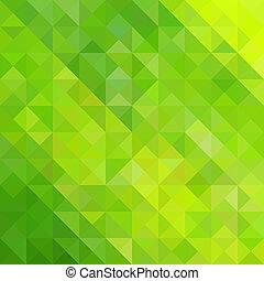 résumé vert, triangle, fond
