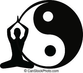 résumé, yoga, fond