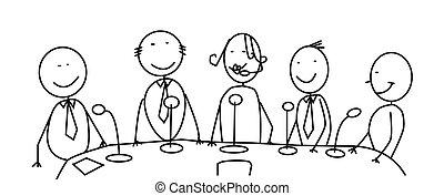 réunion, équipe