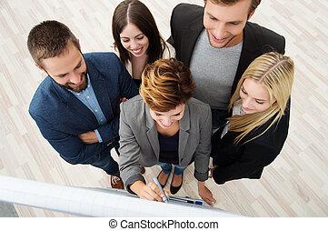 réunion, avoir, equipe affaires