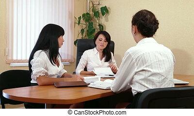 réunion bureau, collègues