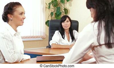 réunion, collègues, business