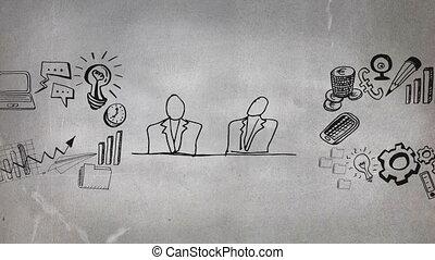 réunion, composite, affaires numériques