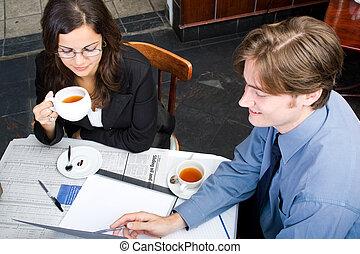 réunion déjeuner, business