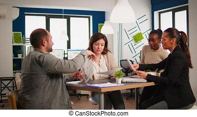 réunion, divers, brain-storming, quoique, businesspeople, ensemble, compagnie, bureau