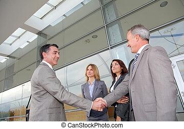 réunion, exposition, professionnels