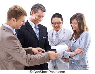 réunion, groupe, ou, equipe affaires