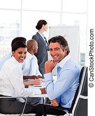 réunion, présentation, business